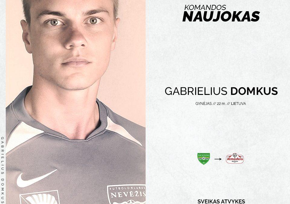 """""""Atmosferoje"""" naujas gynėjas – Gabrielius Domkus"""